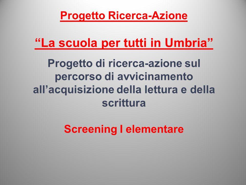 Progetto Ricerca-Azione La scuola per tutti in Umbria