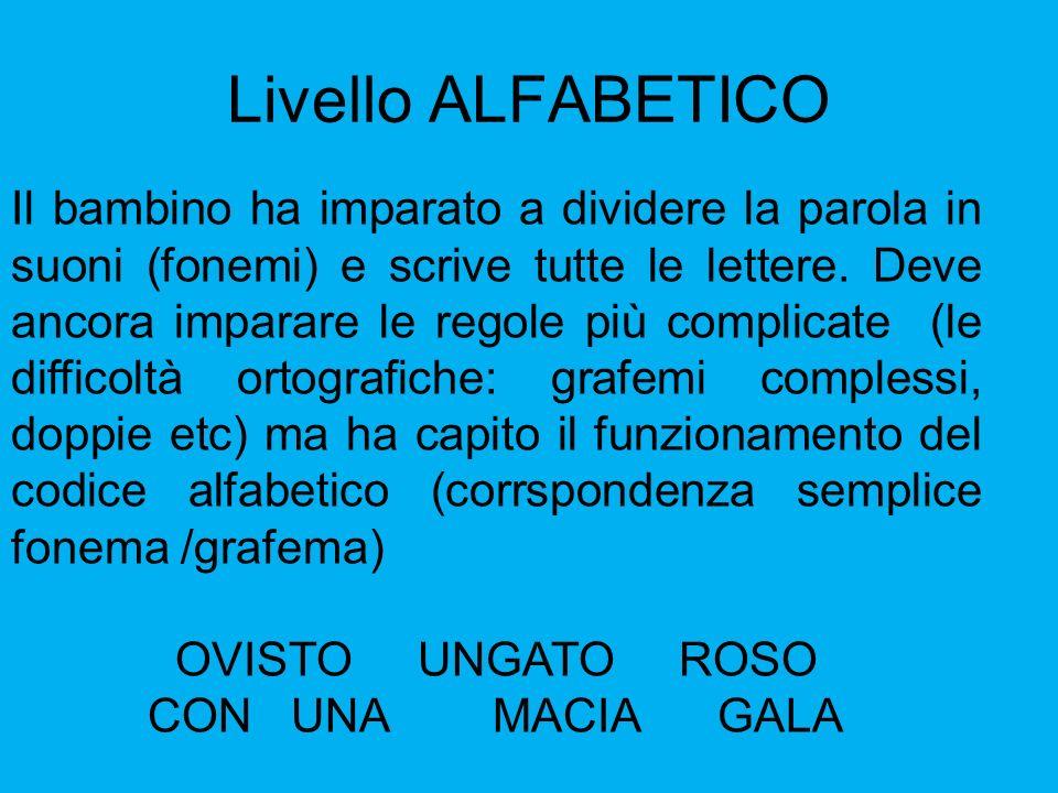 Livello ALFABETICO