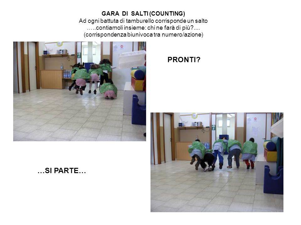 PRONTI …SI PARTE… GARA DI SALTI (COUNTING)
