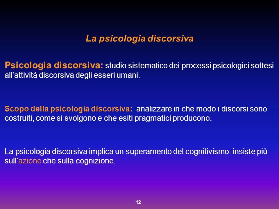 La psicologia discorsiva