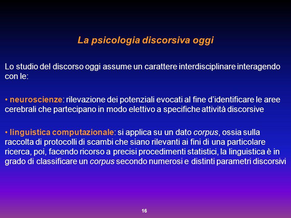 La psicologia discorsiva oggi