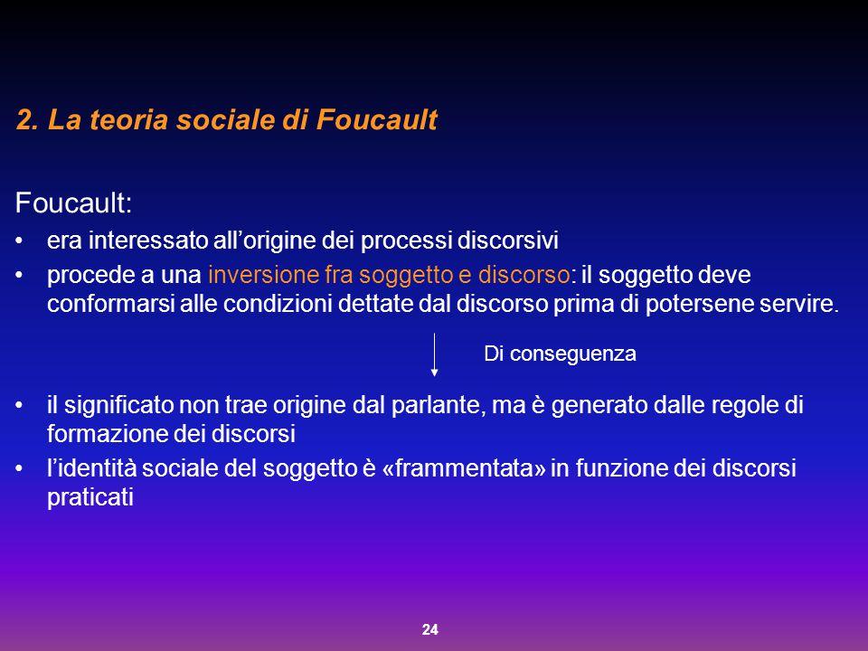 La teoria sociale di Foucault Foucault:
