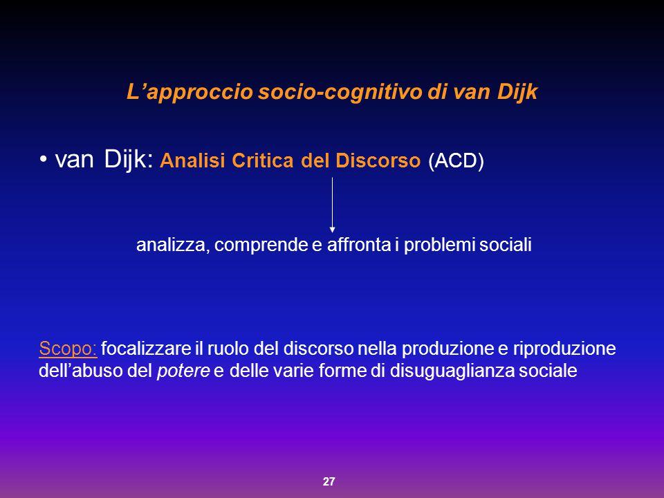 L'approccio socio-cognitivo di van Dijk