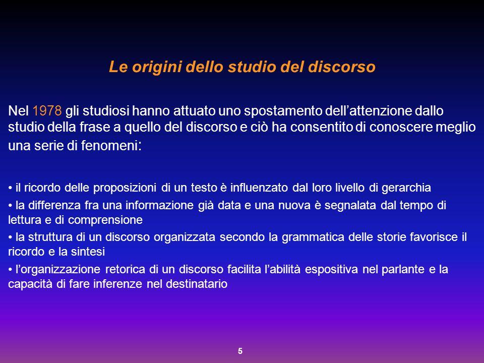 Le origini dello studio del discorso