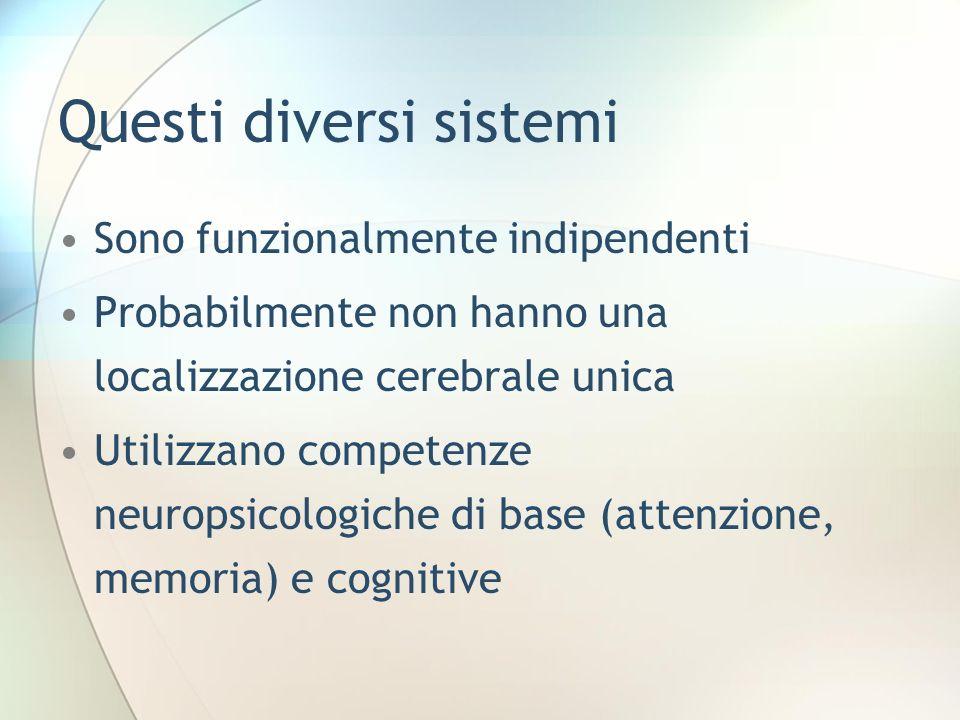 Questi diversi sistemi