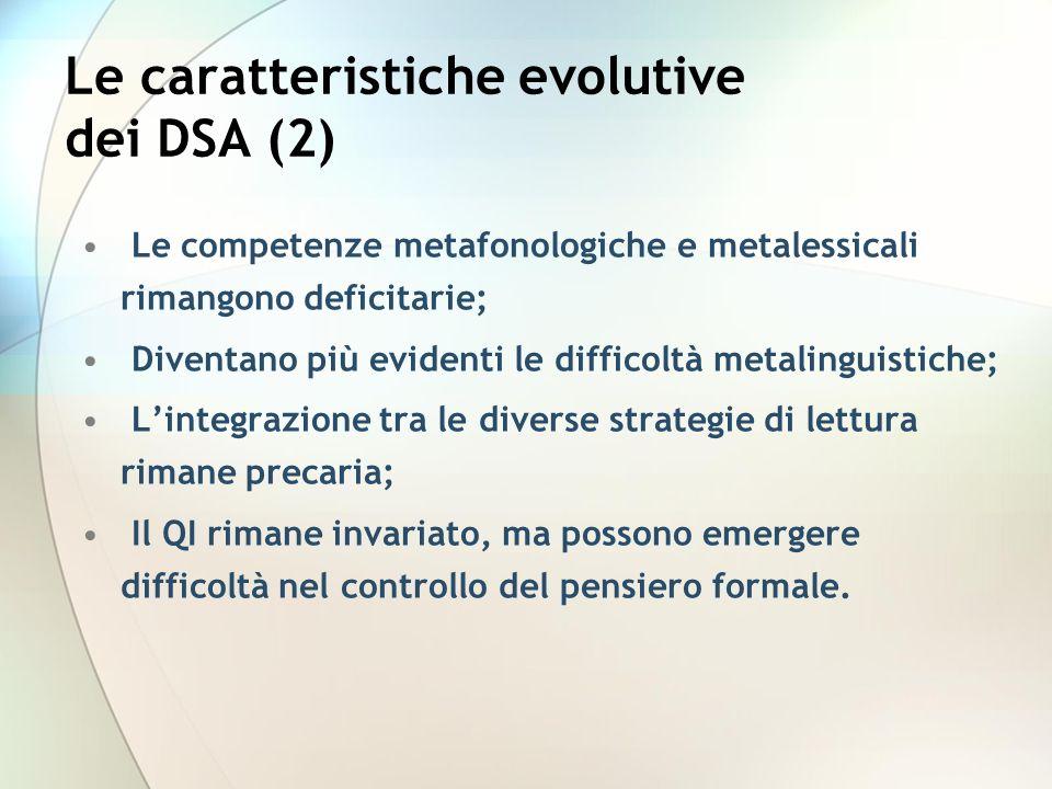 Le caratteristiche evolutive dei DSA (2)