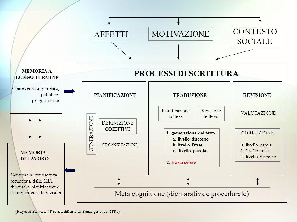 Meta cognizione (dichiarativa e procedurale)
