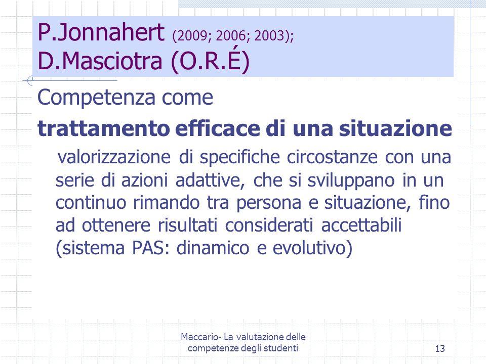 P.Jonnahert (2009; 2006; 2003); D.Masciotra (O.R.É)