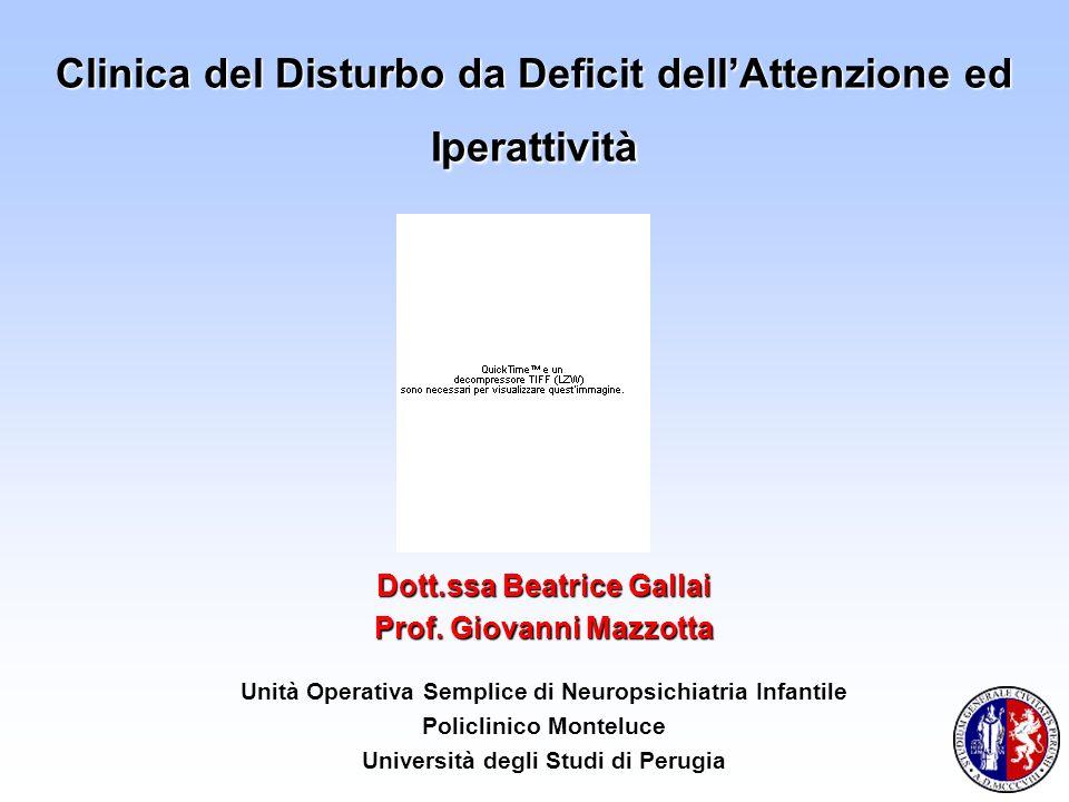 Clinica del Disturbo da Deficit dell'Attenzione ed Iperattività
