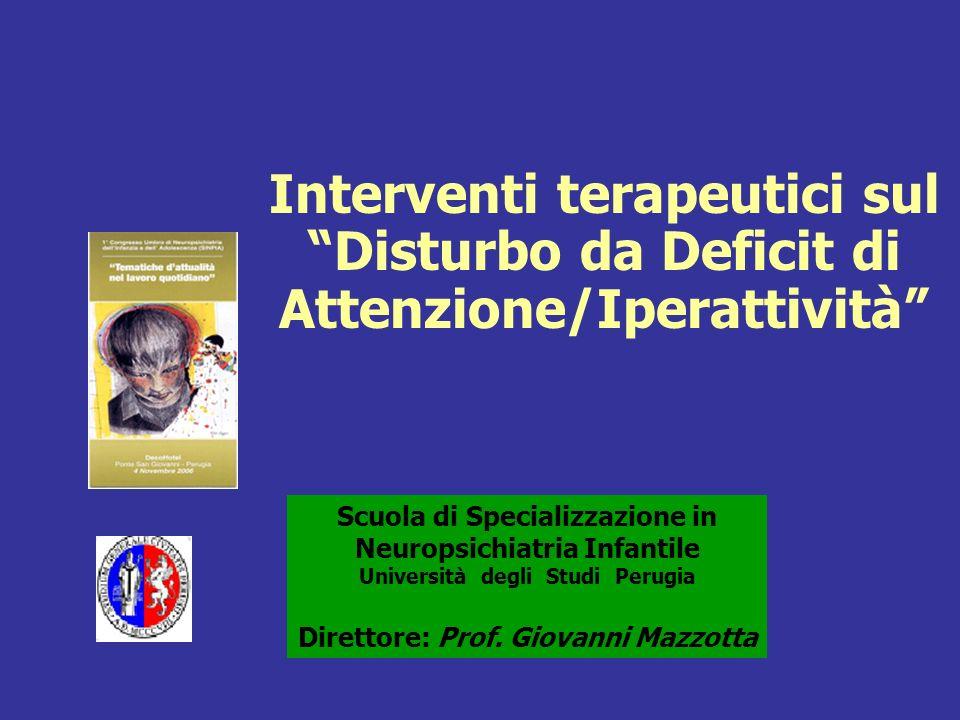 Interventi terapeutici sul Disturbo da Deficit di Attenzione/Iperattività