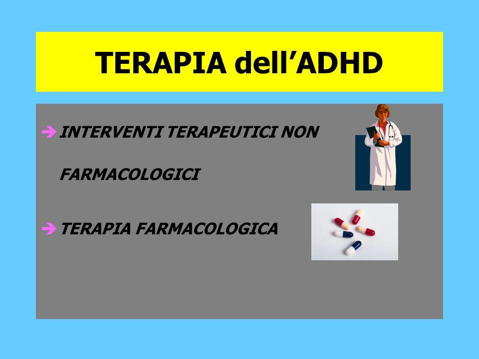 TERAPIA dell'ADHD INTERVENTI TERAPEUTICI NON FARMACOLOGICI