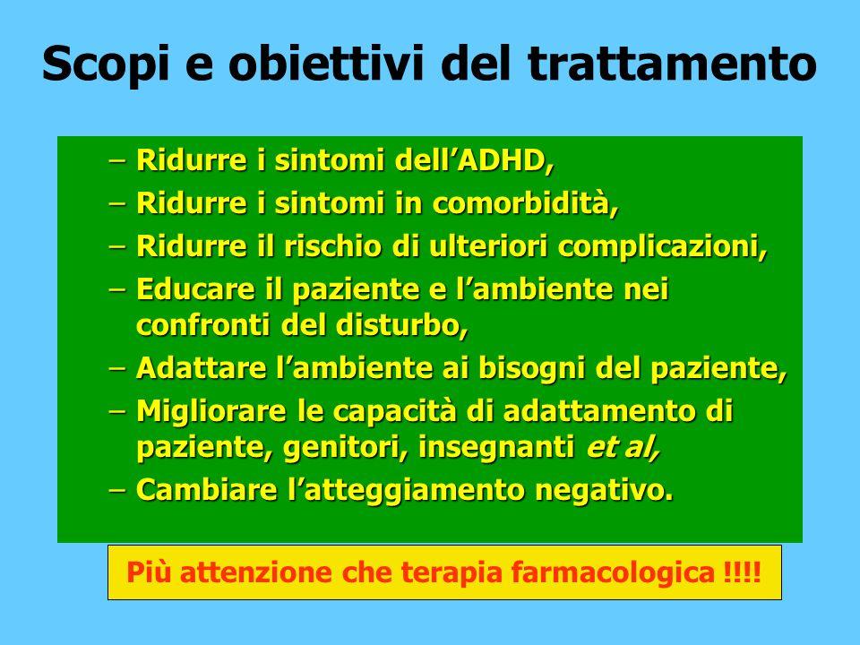 Scopi e obiettivi del trattamento