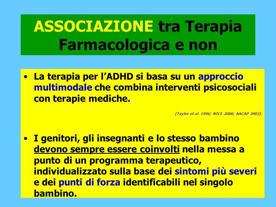 ASSOCIAZIONE tra Terapia Farmacologica e non