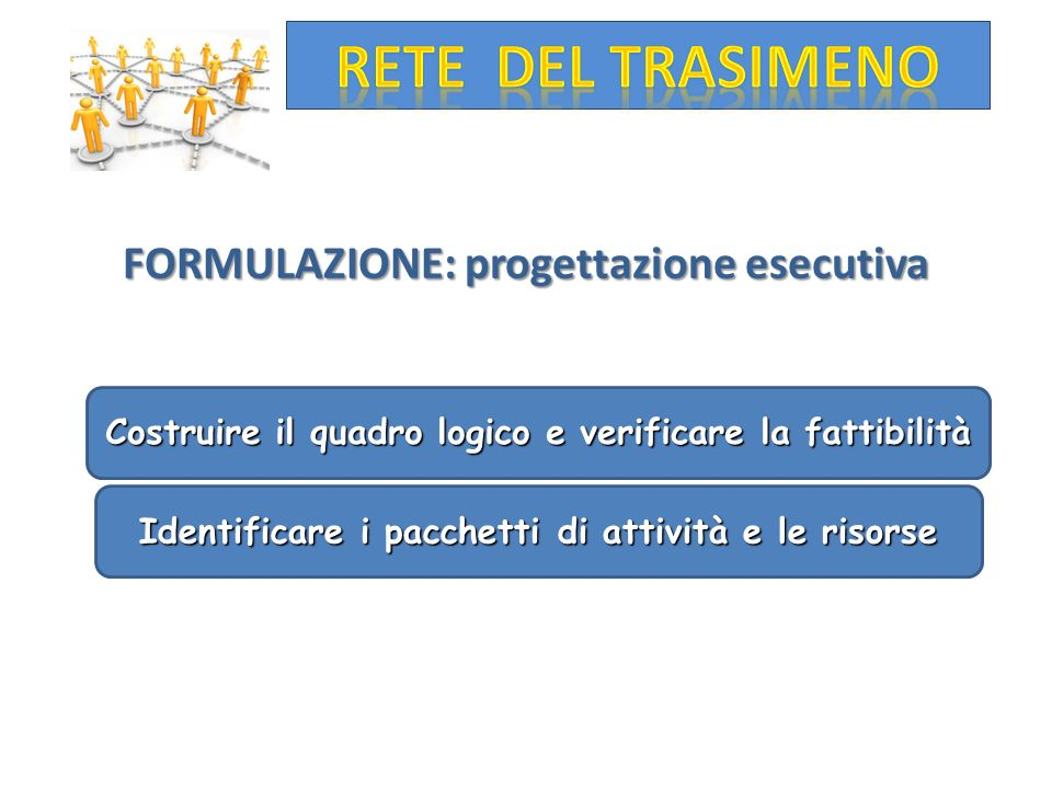 FORMULAZIONE: progettazione esecutiva
