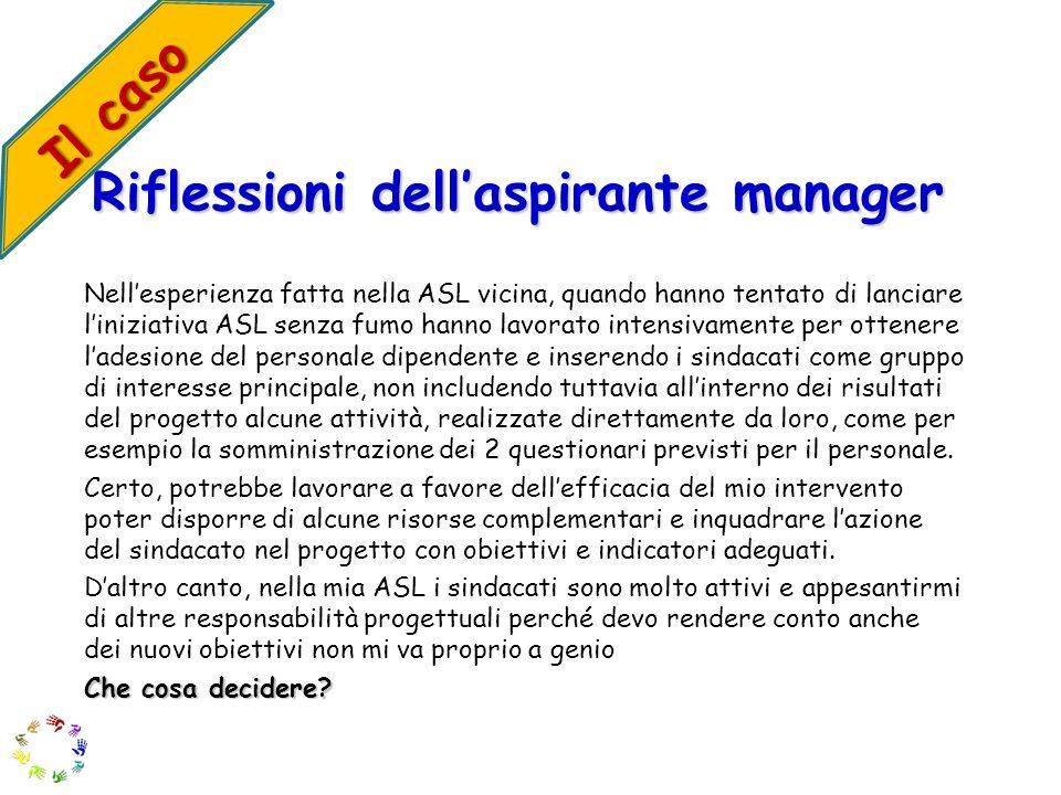 Riflessioni dell'aspirante manager