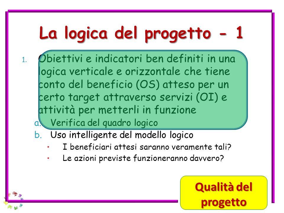 La logica del progetto - 1