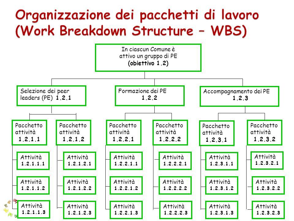 Organizzazione dei pacchetti di lavoro (Work Breakdown Structure – WBS)