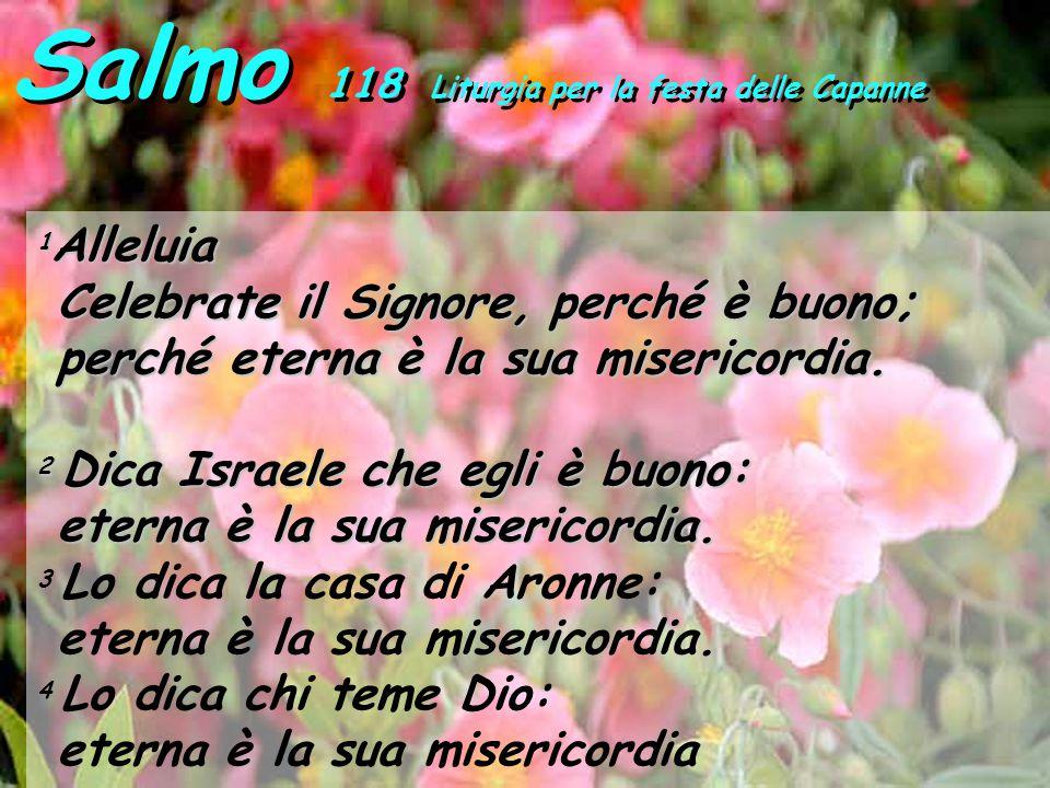 Salmo 118 Liturgia per la festa delle Capanne