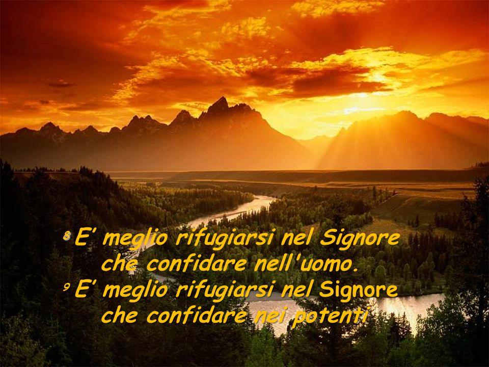 8 E' meglio rifugiarsi nel Signore che confidare nell uomo.