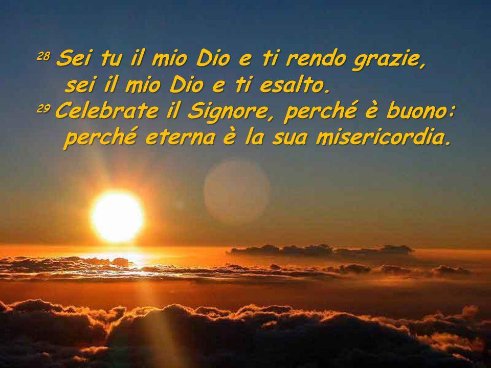 sei il mio Dio e ti esalto. perché eterna è la sua misericordia.