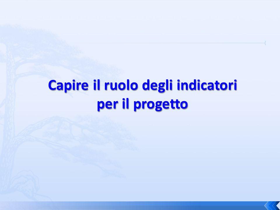 Capire il ruolo degli indicatori per il progetto