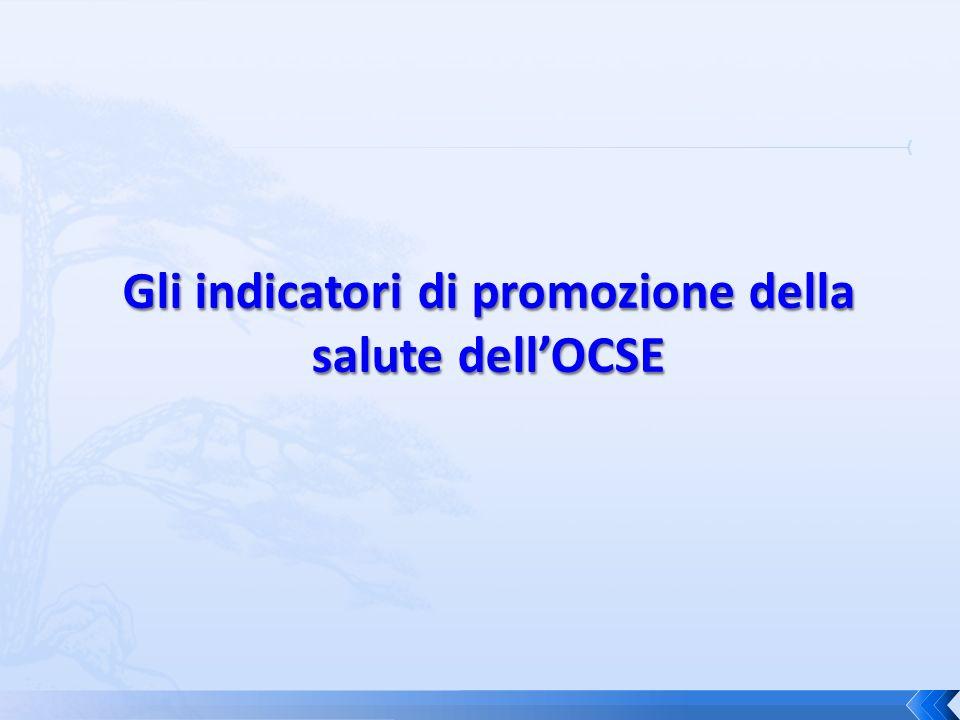 Gli indicatori di promozione della salute dell'OCSE