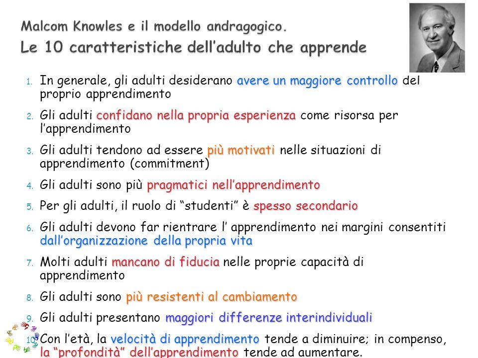 Malcom Knowles e il modello andragogico