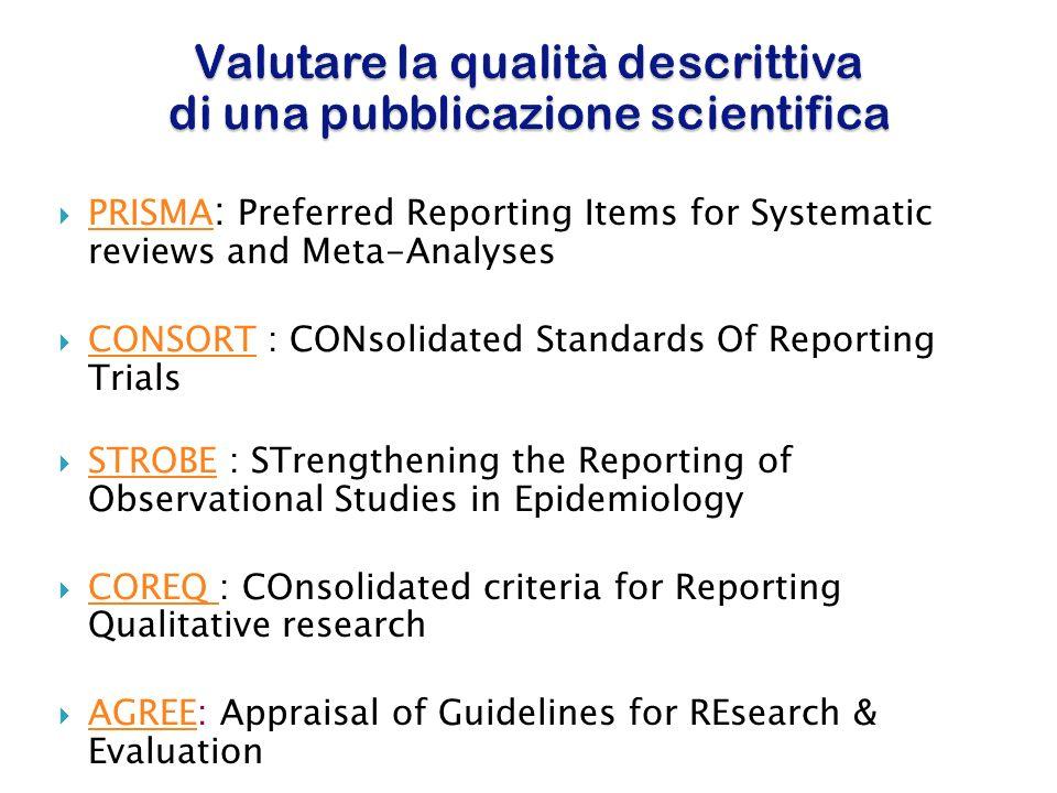 Valutare la qualità descrittiva di una pubblicazione scientifica