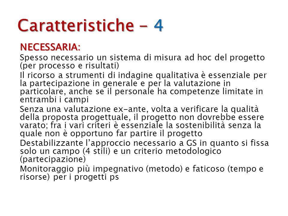 Caratteristiche - 4 NECESSARIA: