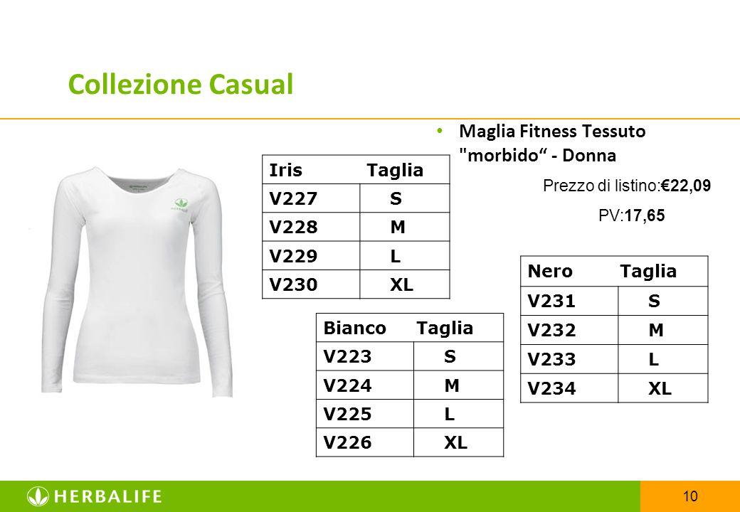 Collezione Casual Maglia Fitness Tessuto morbido - Donna Iris Taglia