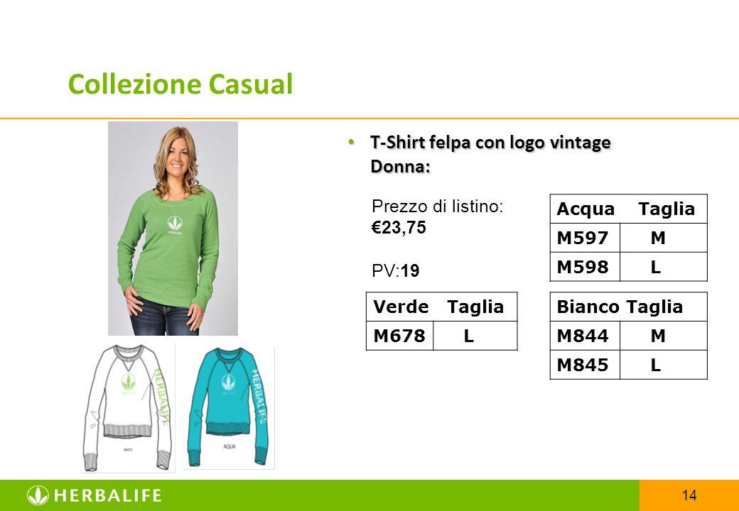 Collezione Casual T-Shirt felpa con logo vintage Donna: