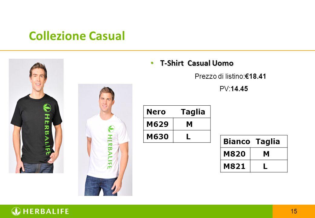 Collezione Casual T-Shirt Casual Uomo Nero Taglia M629 M M630 L