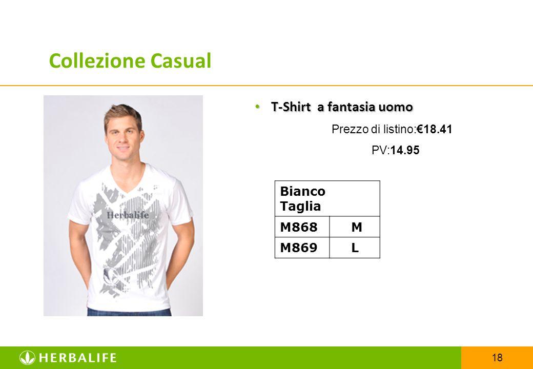 Collezione Casual T-Shirt a fantasia uomo Bianco Taglia M868 M M869 L