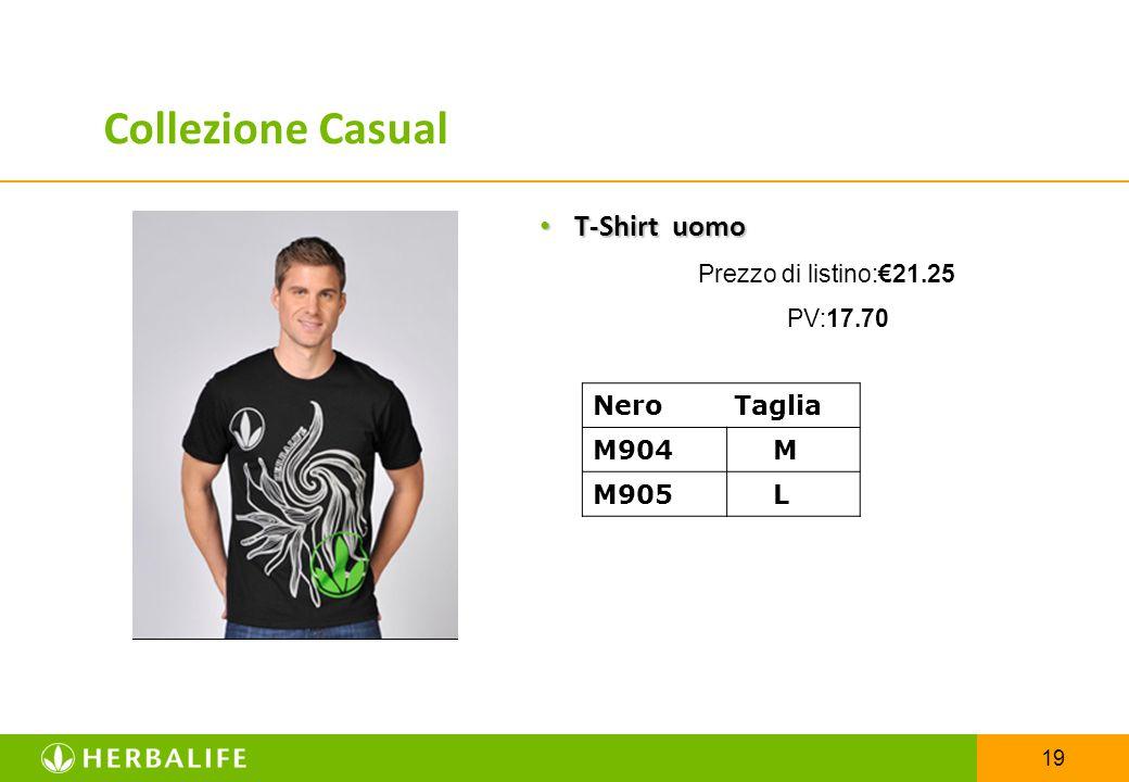 Collezione Casual T-Shirt uomo Nero Taglia M904 M M905 L