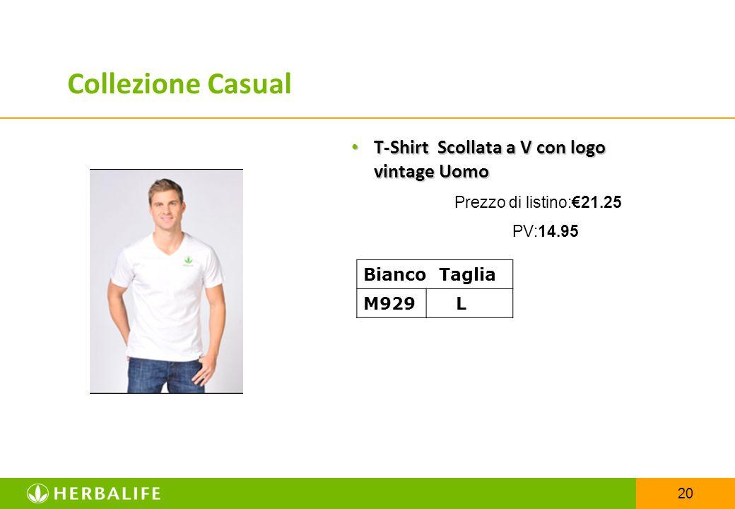 Collezione Casual T-Shirt Scollata a V con logo vintage Uomo
