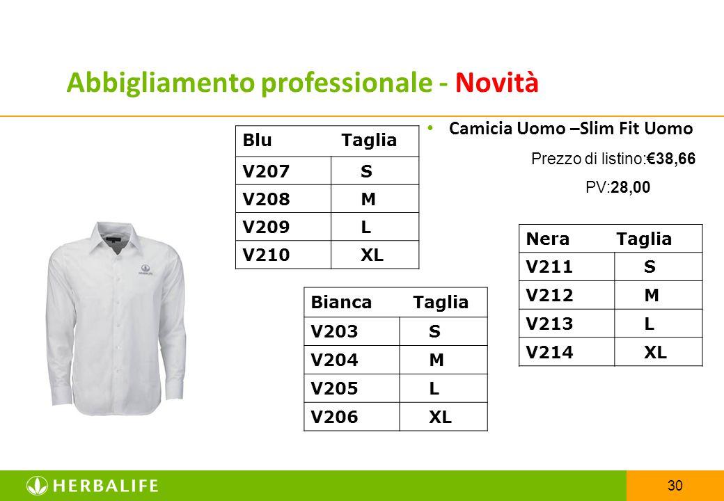 Abbigliamento professionale - Novità