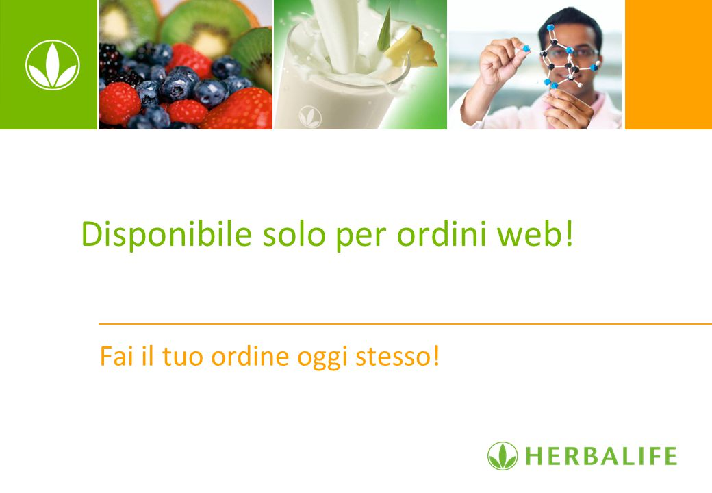 Disponibile solo per ordini web!
