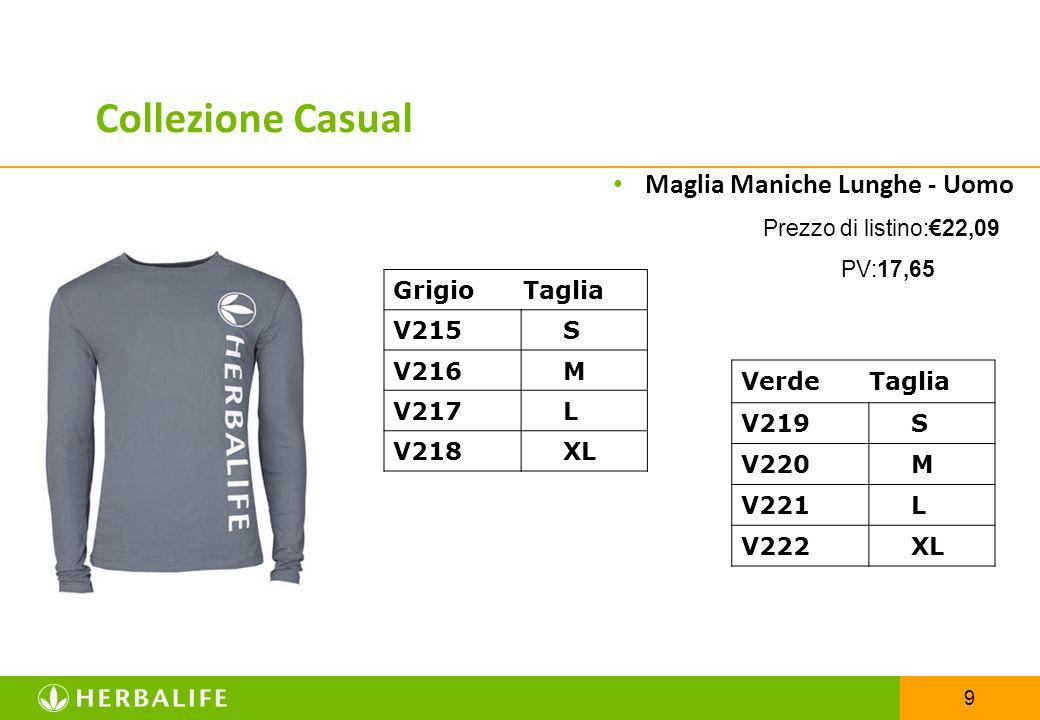 Collezione Casual Maglia Maniche Lunghe - Uomo Grigio Taglia V215 S