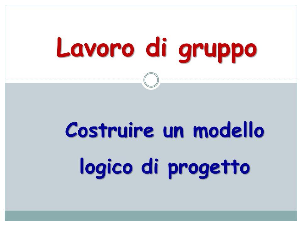Costruire un modello logico di progetto