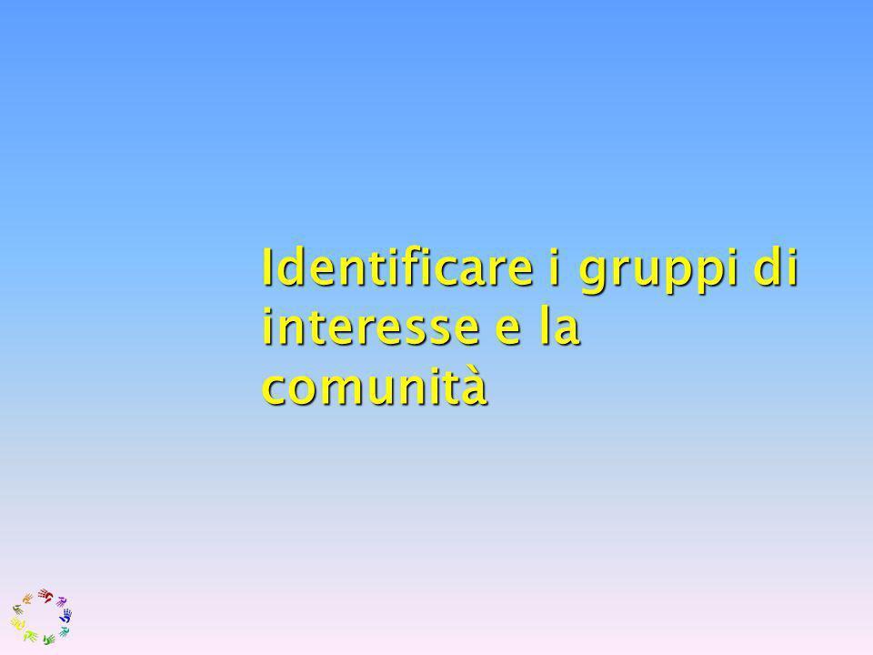 Identificare i gruppi di interesse e la comunità