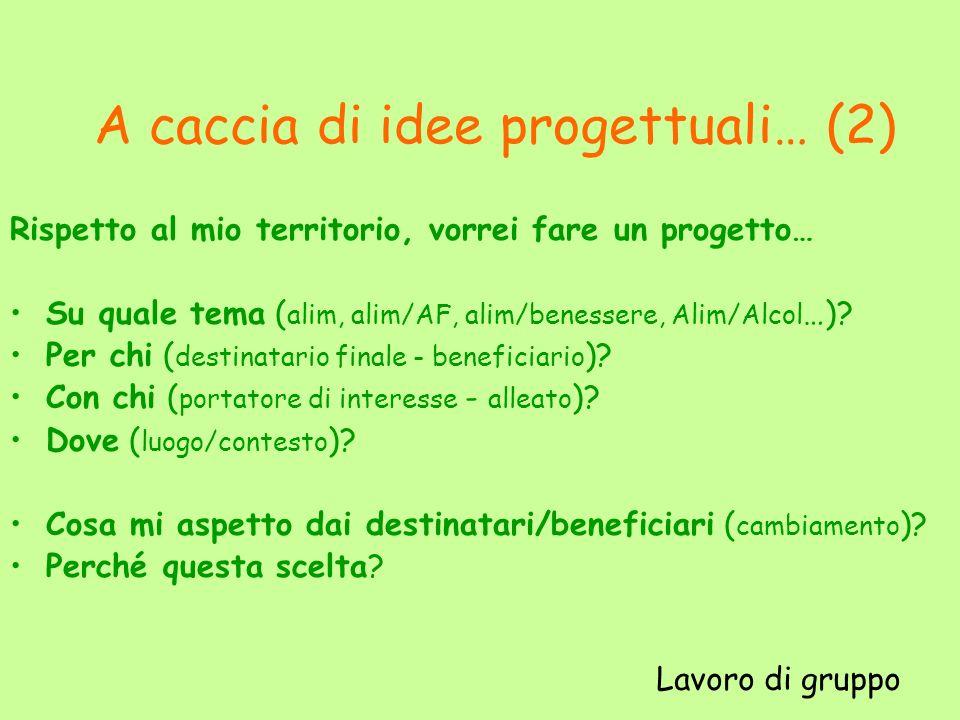A caccia di idee progettuali… (2)