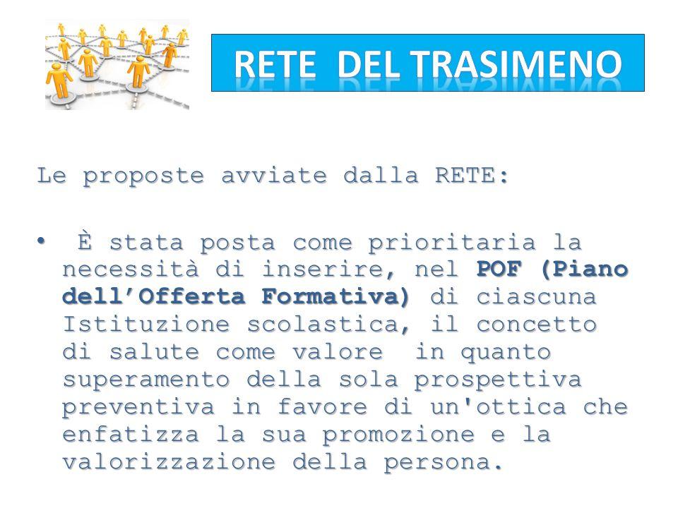 RETE DEL TRASIMENO Le proposte avviate dalla RETE: