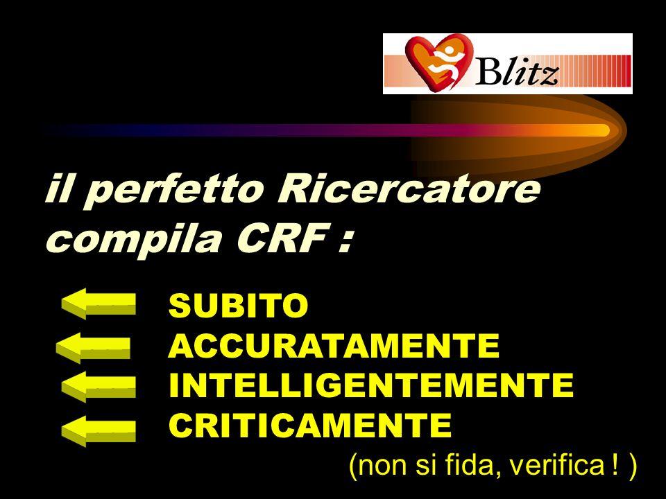 il perfetto Ricercatore compila CRF :
