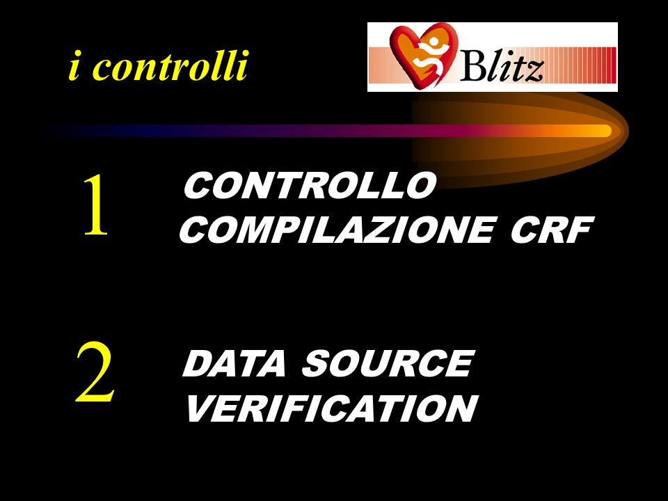 i controlli 1 CONTROLLO COMPILAZIONE CRF DATA SOURCE VERIFICATION 2
