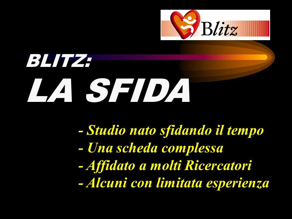 LA SFIDA BLITZ: - Studio nato sfidando il tempo - Una scheda complessa