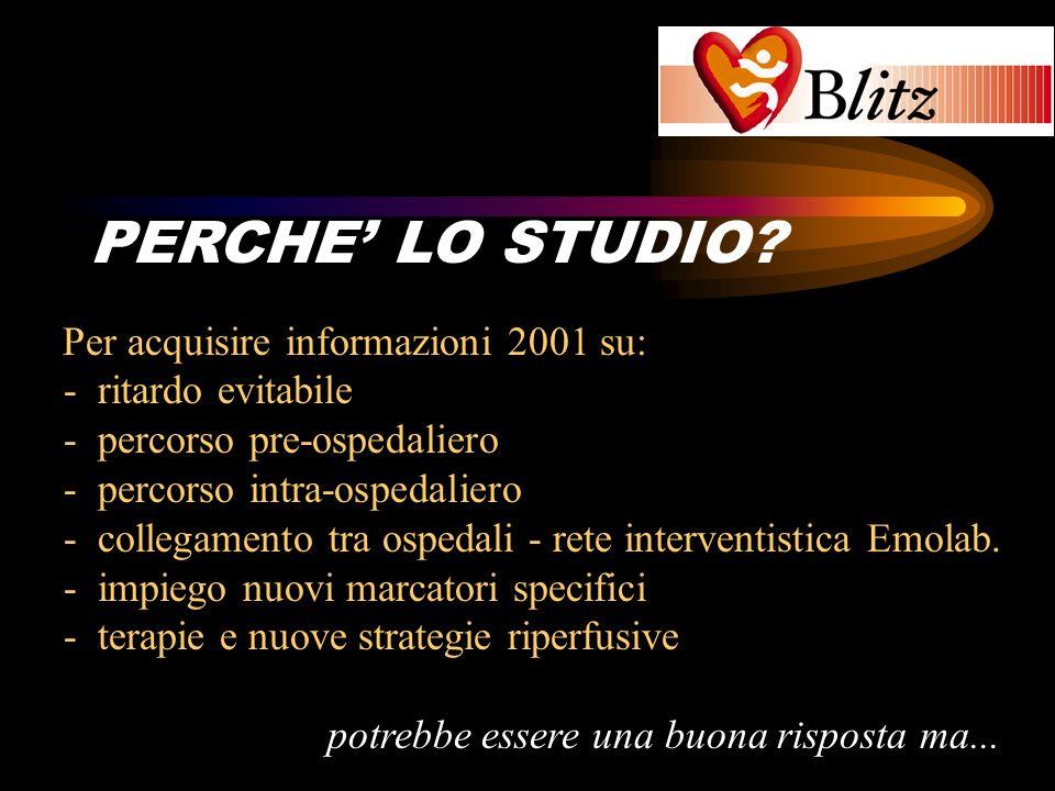BLITZ PERCHE' LO STUDIO Per acquisire informazioni 2001 su: