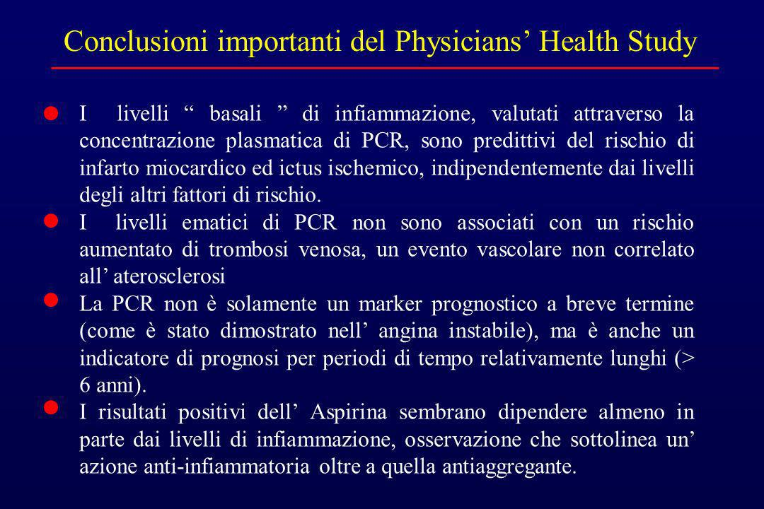 Conclusioni importanti del Physicians' Health Study