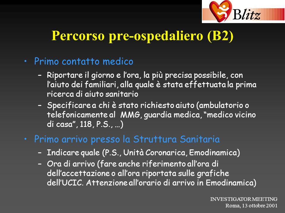 Percorso pre-ospedaliero (B2)