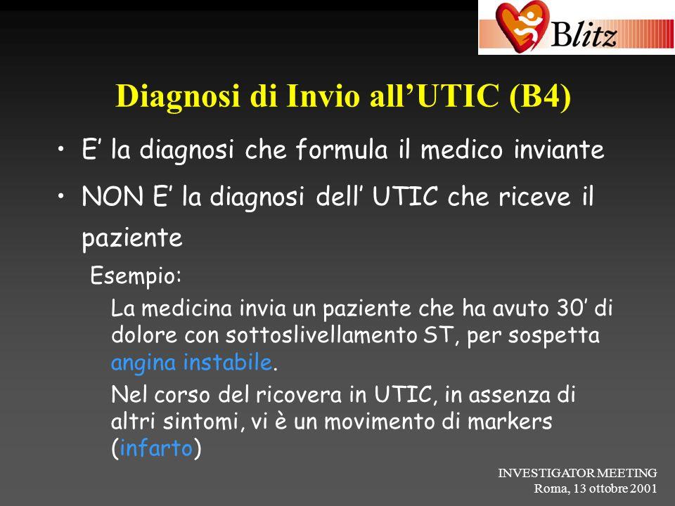 Diagnosi di Invio all'UTIC (B4)