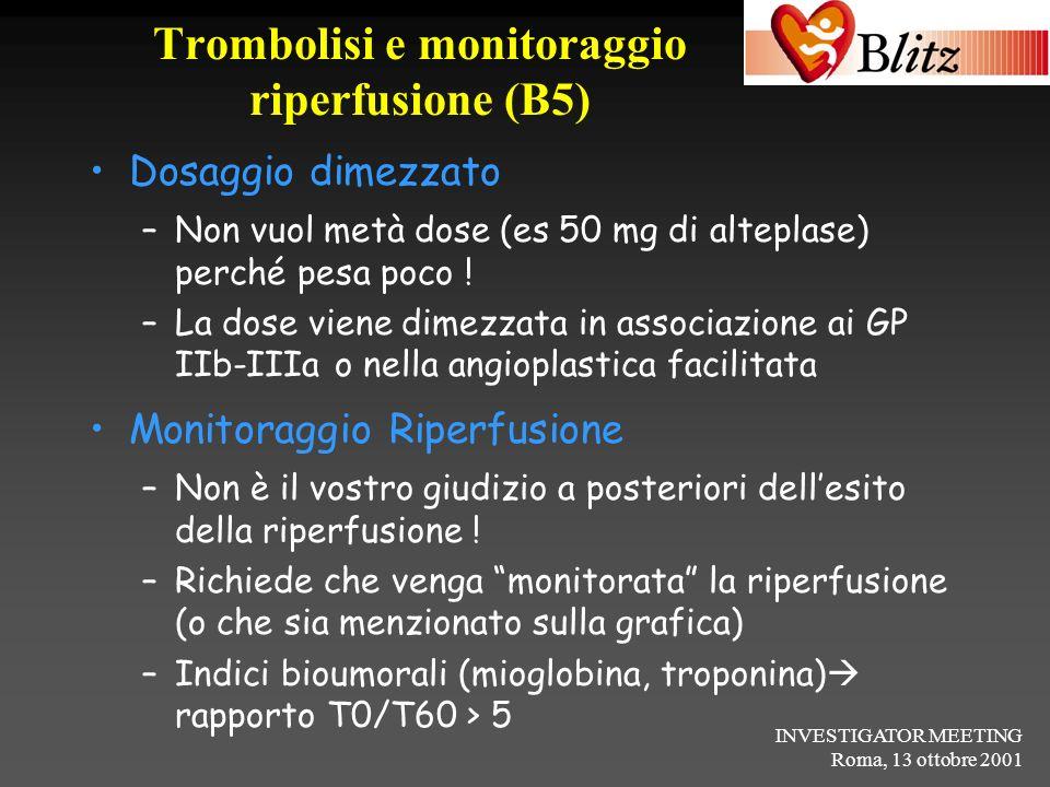 Trombolisi e monitoraggio riperfusione (B5)